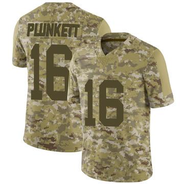 Youth Nike Las Vegas Raiders Jim Plunkett Camo 2018 Salute to Service Jersey - Limited