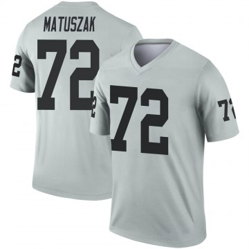 Youth Nike Las Vegas Raiders John Matuszak Inverted Silver Jersey - Legend