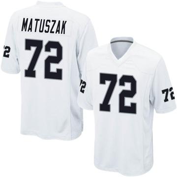 Youth Nike Las Vegas Raiders John Matuszak White Jersey - Game