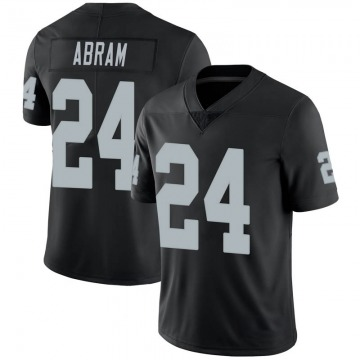 Youth Nike Las Vegas Raiders Johnathan Abram Black 100th Vapor Jersey - Limited