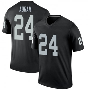 Youth Nike Las Vegas Raiders Johnathan Abram Black Jersey - Legend