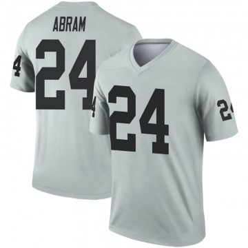 Youth Nike Las Vegas Raiders Johnathan Abram Inverted Silver Jersey - Legend