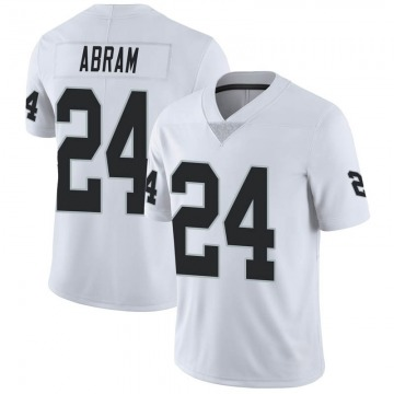 Youth Nike Las Vegas Raiders Johnathan Abram White Vapor Untouchable Jersey - Limited