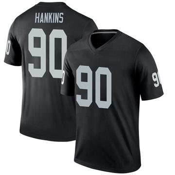 Youth Nike Las Vegas Raiders Johnathan Hankins Black Jersey - Legend