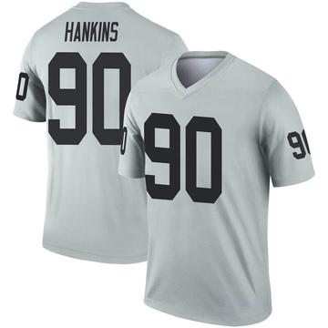 Youth Nike Las Vegas Raiders Johnathan Hankins Inverted Silver Jersey - Legend