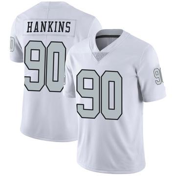 Youth Nike Las Vegas Raiders Johnathan Hankins White Color Rush Jersey - Limited