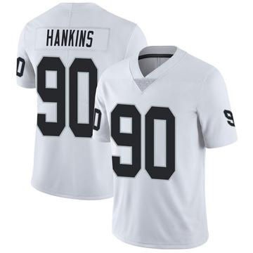 Youth Nike Las Vegas Raiders Johnathan Hankins White Vapor Untouchable Jersey - Limited