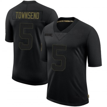 Youth Nike Las Vegas Raiders Johnny Townsend Black 2020 Salute To Service Jersey - Limited