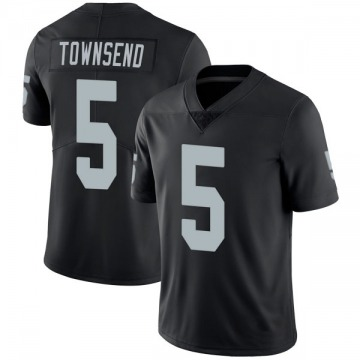 Youth Nike Las Vegas Raiders Johnny Townsend Black Team Color Vapor Untouchable Jersey - Limited