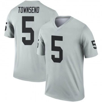 Youth Nike Las Vegas Raiders Johnny Townsend Inverted Silver Jersey - Legend