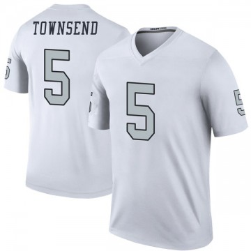 Youth Nike Las Vegas Raiders Johnny Townsend White Color Rush Jersey - Legend