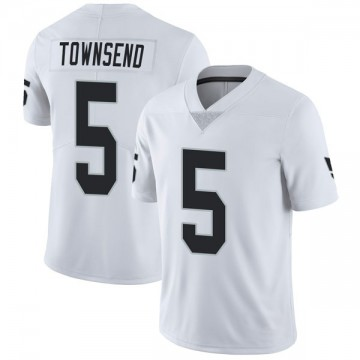 Youth Nike Las Vegas Raiders Johnny Townsend White Vapor Untouchable Jersey - Limited