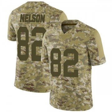 Youth Nike Las Vegas Raiders Jordy Nelson Camo 2018 Salute to Service Jersey - Limited