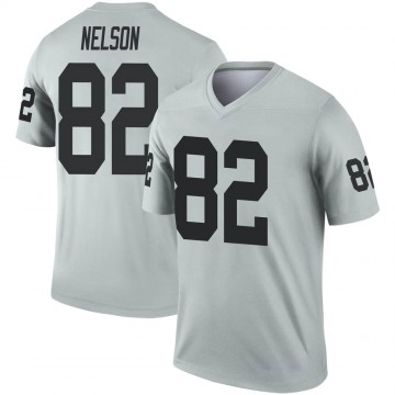 Youth Nike Las Vegas Raiders Jordy Nelson Inverted Silver Jersey - Legend