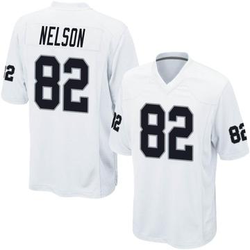 Youth Nike Las Vegas Raiders Jordy Nelson White Jersey - Game