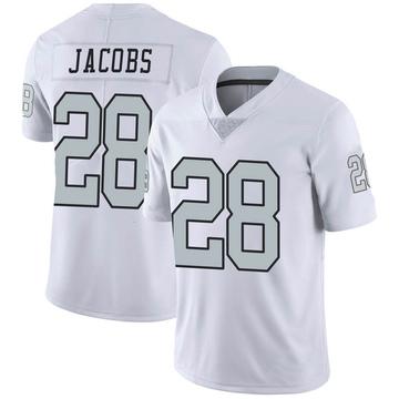 Youth Nike Las Vegas Raiders Josh Jacobs White Color Rush Jersey - Limited