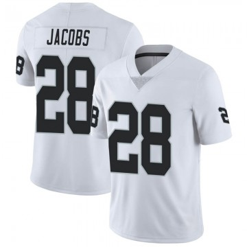 Youth Nike Las Vegas Raiders Josh Jacobs White Vapor Untouchable Jersey - Limited