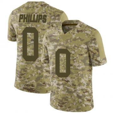 Youth Nike Las Vegas Raiders Justin Phillips Camo 2018 Salute to Service Jersey - Limited