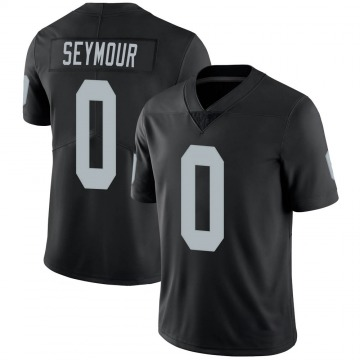 Youth Nike Las Vegas Raiders Kamaal Seymour Black 100th Vapor Jersey - Limited