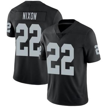 Youth Nike Las Vegas Raiders Keisean Nixon Black 100th Vapor Jersey - Limited