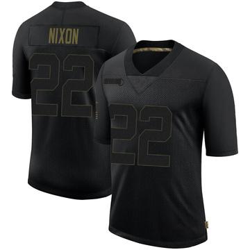 Youth Nike Las Vegas Raiders Keisean Nixon Black 2020 Salute To Service Jersey - Limited