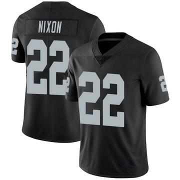 Youth Nike Las Vegas Raiders Keisean Nixon Black Team Color Vapor Untouchable Jersey - Limited