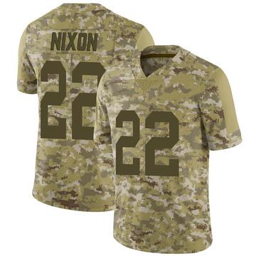 Youth Nike Las Vegas Raiders Keisean Nixon Camo 2018 Salute to Service Jersey - Limited