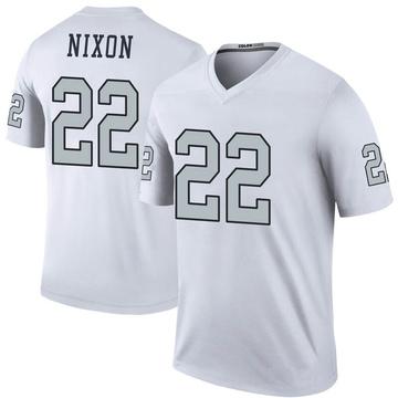Youth Nike Las Vegas Raiders Keisean Nixon White Color Rush Jersey - Legend