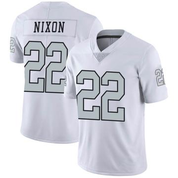 Youth Nike Las Vegas Raiders Keisean Nixon White Color Rush Jersey - Limited