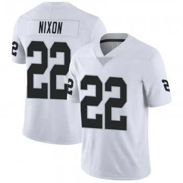 Youth Nike Las Vegas Raiders Keisean Nixon White Vapor Untouchable Jersey - Limited