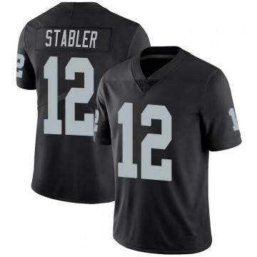 Youth Nike Las Vegas Raiders Ken Stabler Black 100th Vapor Jersey - Limited