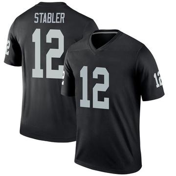 Youth Nike Las Vegas Raiders Ken Stabler Black Jersey - Legend