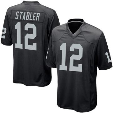 Youth Nike Las Vegas Raiders Ken Stabler Black Team Color Jersey - Game