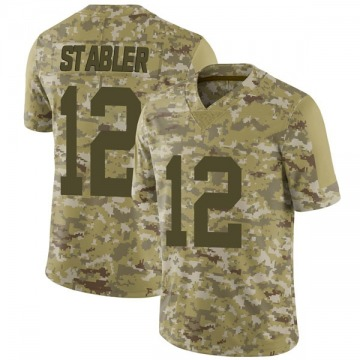 Youth Nike Las Vegas Raiders Ken Stabler Camo 2018 Salute to Service Jersey - Limited