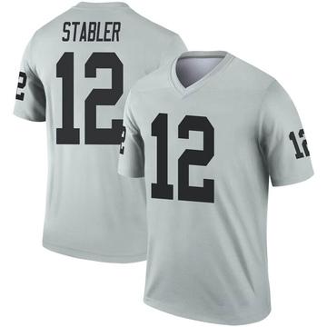 Youth Nike Las Vegas Raiders Ken Stabler Inverted Silver Jersey - Legend