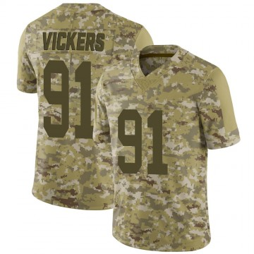 Youth Nike Las Vegas Raiders Kendal Vickers Camo 2018 Salute to Service Jersey - Limited