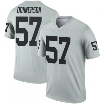 Youth Nike Las Vegas Raiders Kendall Donnerson Inverted Silver Jersey - Legend