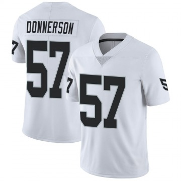 Youth Nike Las Vegas Raiders Kendall Donnerson White Vapor Untouchable Jersey - Limited