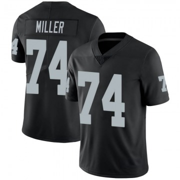 Youth Nike Las Vegas Raiders Kolton Miller Black 100th Vapor Jersey - Limited