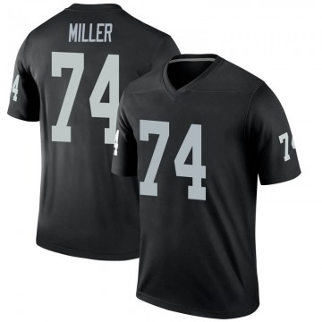 Youth Nike Las Vegas Raiders Kolton Miller Black Jersey - Legend