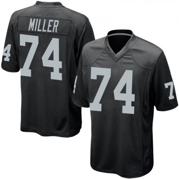 Youth Nike Las Vegas Raiders Kolton Miller Black Team Color Jersey - Game