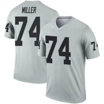 Youth Nike Las Vegas Raiders Kolton Miller Inverted Silver Jersey - Legend