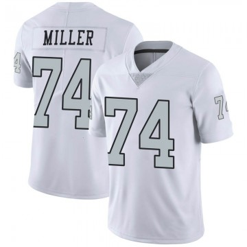 Youth Nike Las Vegas Raiders Kolton Miller White Color Rush Jersey - Limited