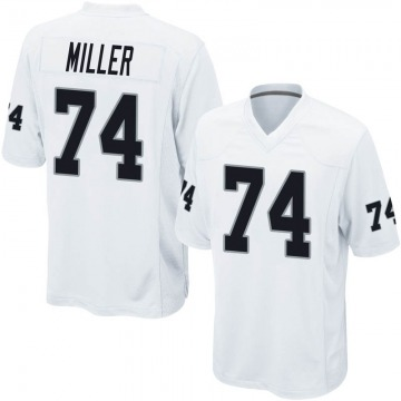 Youth Nike Las Vegas Raiders Kolton Miller White Jersey - Game
