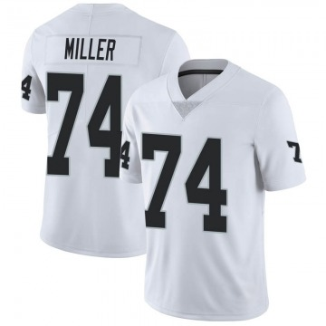 Youth Nike Las Vegas Raiders Kolton Miller White Vapor Untouchable Jersey - Limited