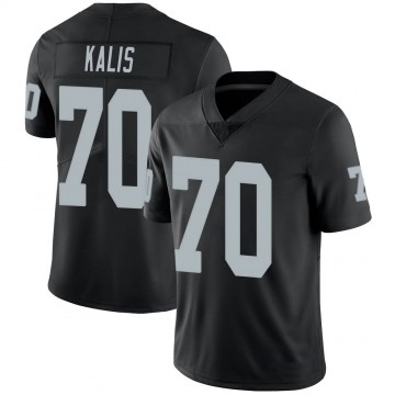 Youth Nike Las Vegas Raiders Kyle Kalis Black 100th Vapor Jersey - Limited