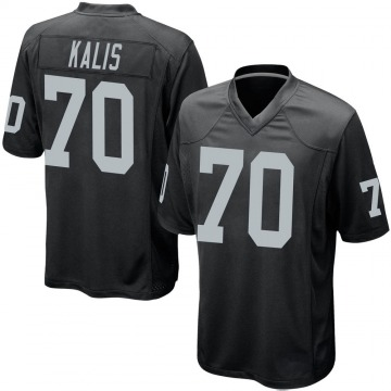 Youth Nike Las Vegas Raiders Kyle Kalis Black Team Color Jersey - Game
