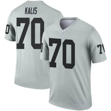 Youth Nike Las Vegas Raiders Kyle Kalis Inverted Silver Jersey - Legend