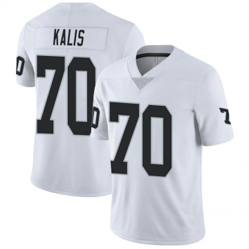 Youth Nike Las Vegas Raiders Kyle Kalis White Vapor Untouchable Jersey - Limited