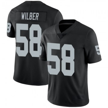 Youth Nike Las Vegas Raiders Kyle Wilber Black 100th Vapor Jersey - Limited